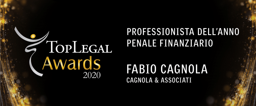 Lawyer Fabio Cagnola Professional 2020 Financial Criminal